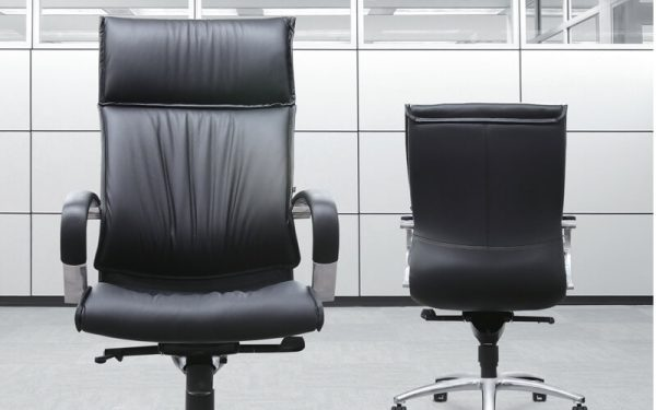 Luxdezine Black 2 Leather Executive Chair