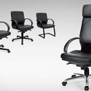Luxdezine Black 4 Executive Chair Leather