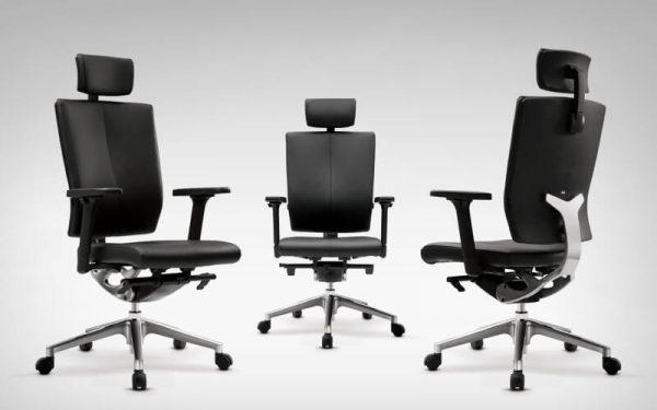 Luxdezine Black Leather 3 Executive Chair