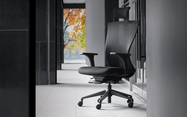 Luxdezine Black Office Chair INCLA Series