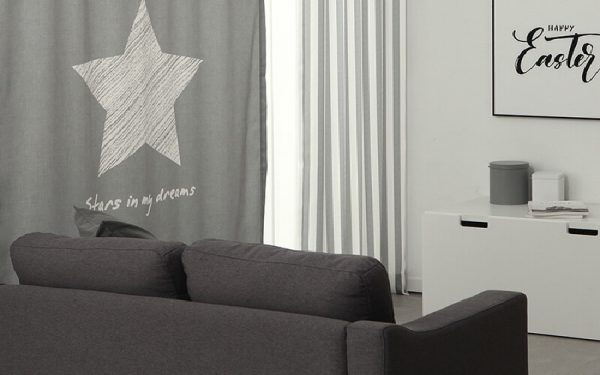 Luxdezine Blackout Curtains Crayon Star