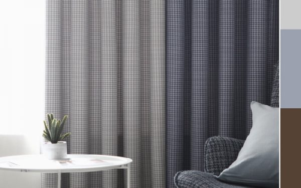 Luxdezine Blackout Curtains Houndstooth