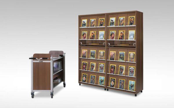 Luxdezine Book Display Shelf Cart Furniture
