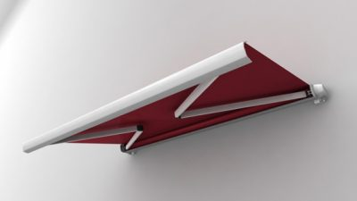 Luxdezine Cassette Awning 3D Red White