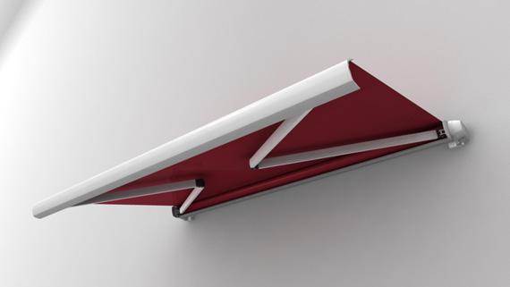Luxdezine Cassette Awning 3D Red White