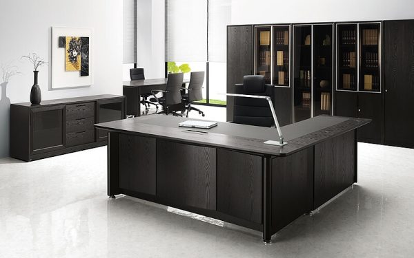 Luxdezine Executive Table Office Furniture Black 1000 Series