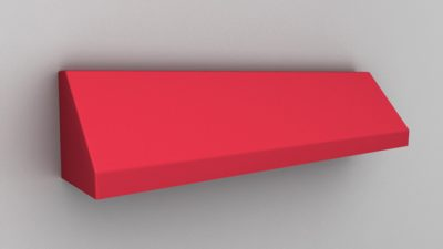 Luxdezine Fixed Awning Red 3D