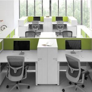 Luxdezine Modern White Office Furniture