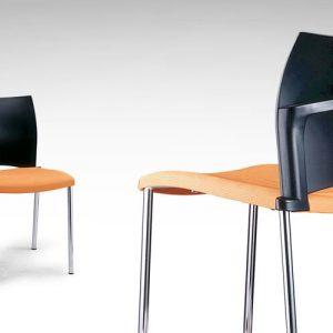 Luxdezube Multi Use Chair Black Orange Silver Metal