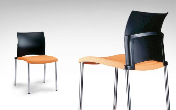 Luxdezube Multi Use Chair Black Orange Silver Metal