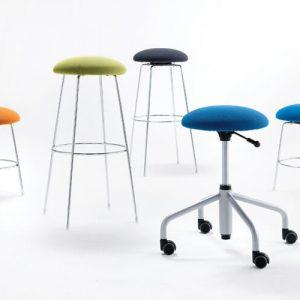 Luxdezine Multi Use Chair Round Blue Violet Green Orange