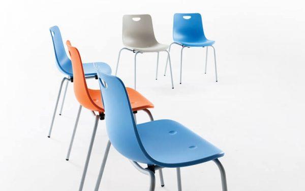 Luxdezine Multiuse Chair With Black Rest Multi Color