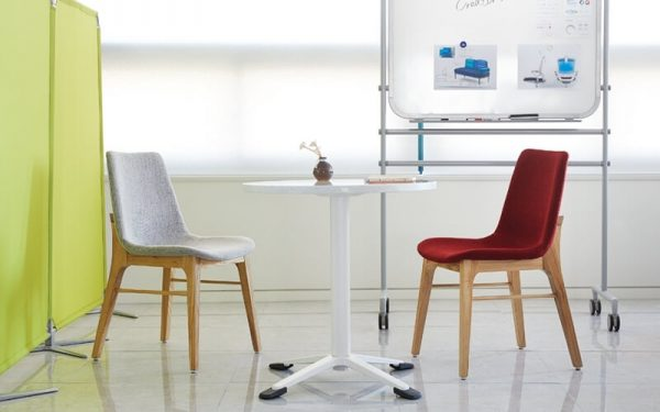 Luxdezine Office Chair White Table White Board Background