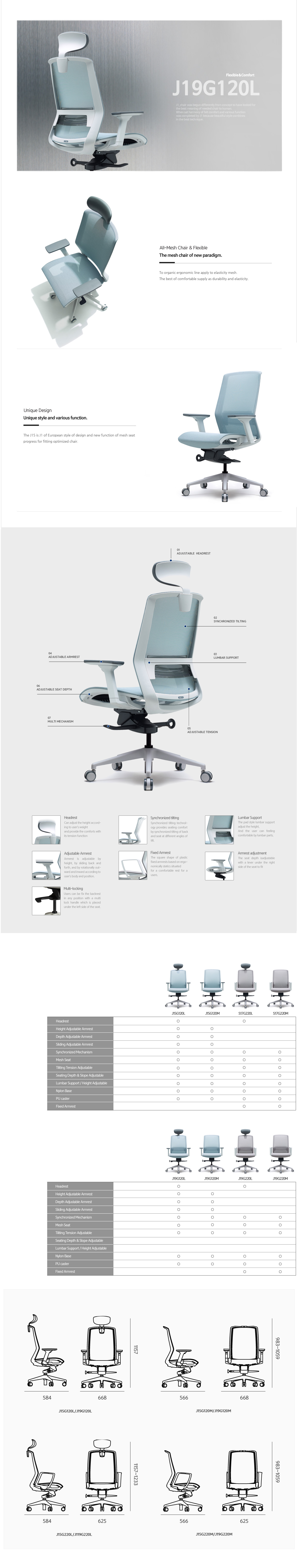 Luxdezine Office Chairs Furniture J19G120L