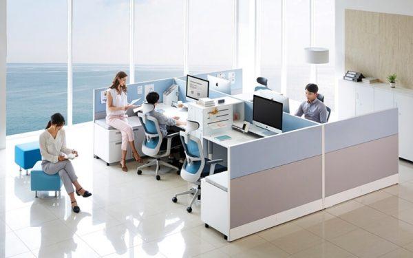 Luxdezine Office Workstation Employees Working