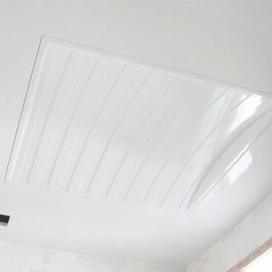 Luxdezine Plastic Ceiling Bathroom White