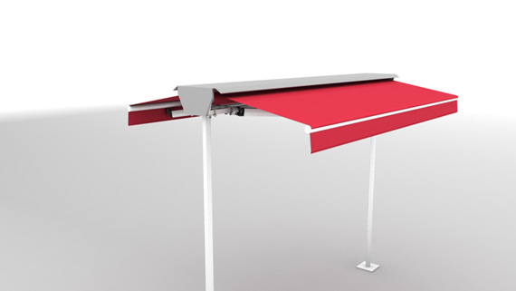 Luxdezine Plaza Awning White Red