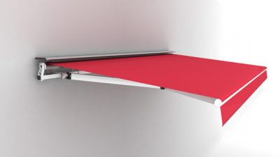 Luxdezine Retractable Awning 3D Red White