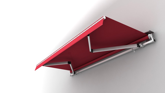 Luxdezine Retractable Awning 3D Red White Modern