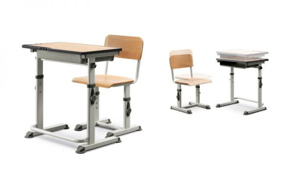 Luxdezine School Classroom Furniture Wood Table Chair