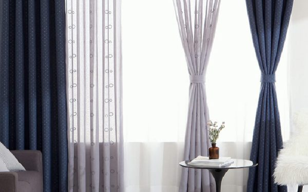 Luxdezine Sheer Curtains Odd Embroidery