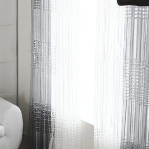 Luxdezine Sheer Curtains Ventana Waffle