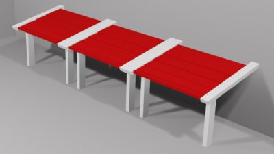 Luxdezine Sky Awning 3D Red White