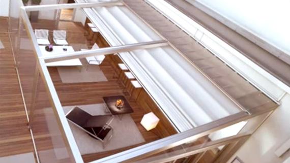 Luxdezine Sky Awning Indoor White Glass