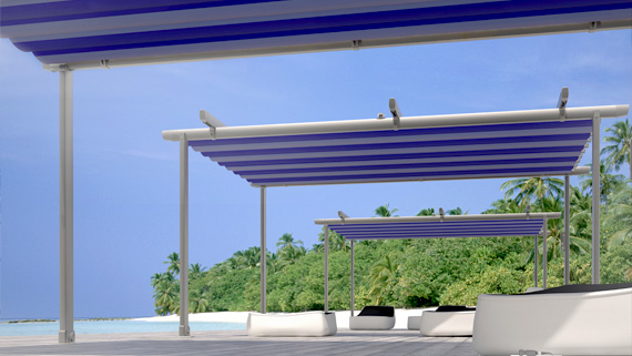 Luxdezine Sky Awning Outdoor Blue White