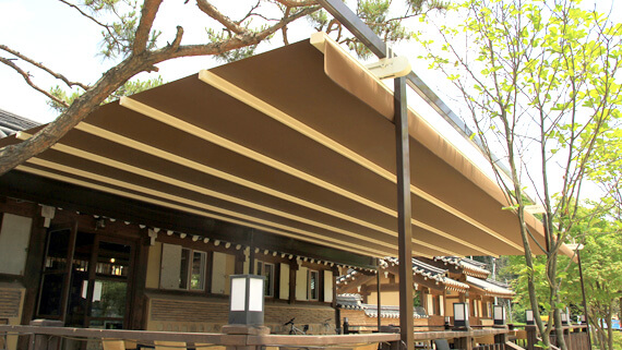 Luxdezine Sky Awning Outdoor Cafe