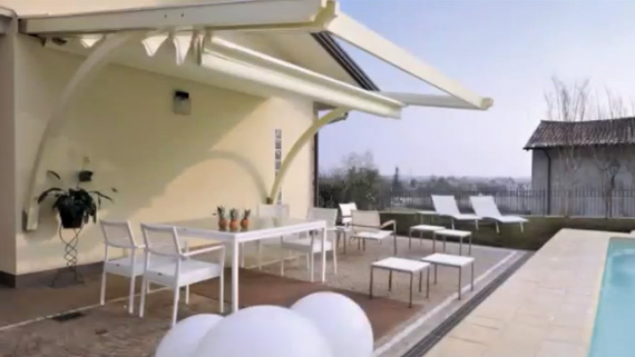 Luxdezine Sky Awning Outdoor White Pool Side