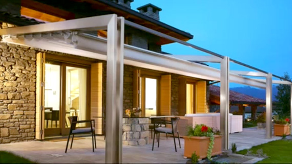 Luxdezine Sky Awning Outdoor White Porch