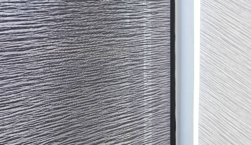 Luxdezine Window Blinds Roll Screen Shades Grey Small Zoom