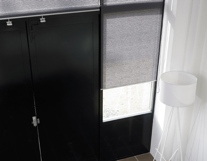 Luxdezine Window Blinds Roll Screen Shades Grey Small
