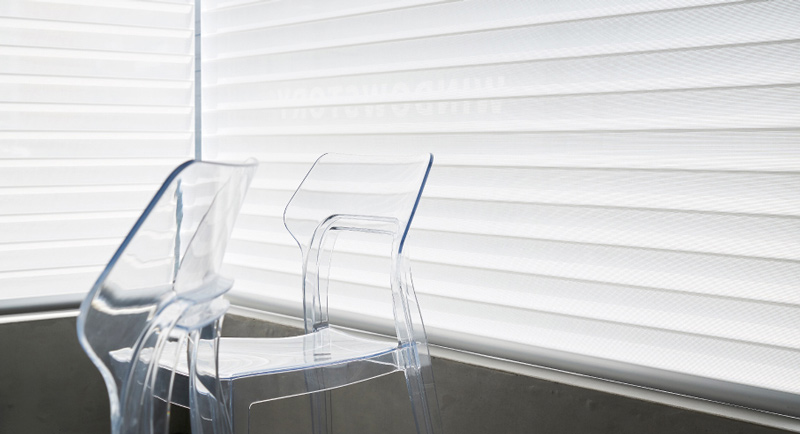 Luxdezine Window Blinds 3D Shade Privacy Glass Chair
