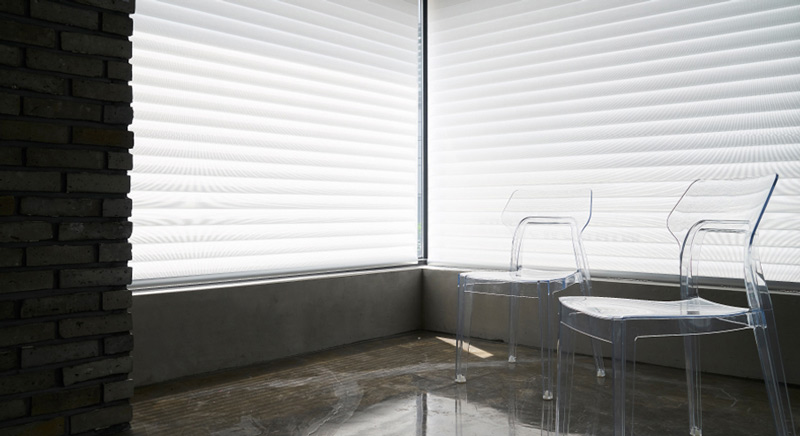 Luxdezine Window Blinds 3D Shade Privacy Glass Chairs