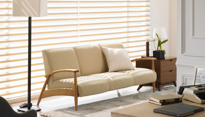 Luxdezine Window Blinds 3D Shade Privacy White Sofa