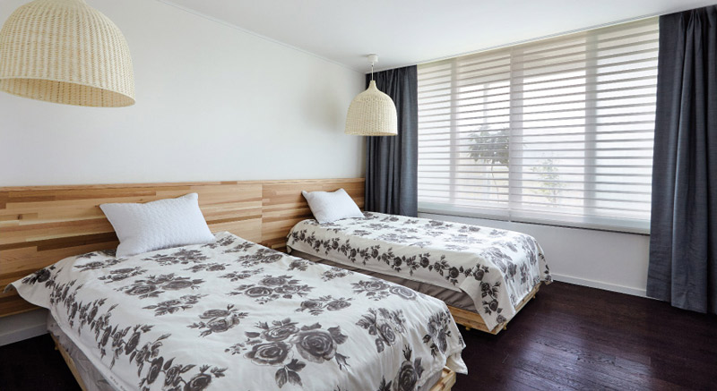 Luxdezine Window Blinds 3D Shade White Bed Room