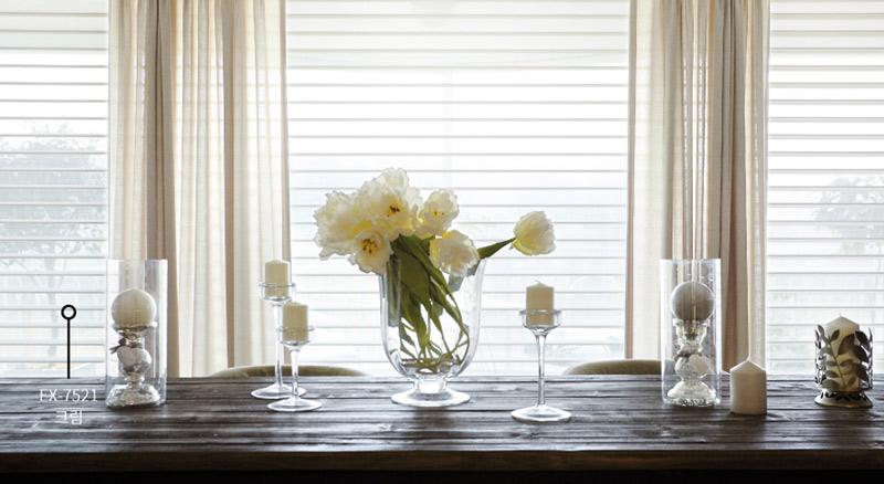 Luxdezine Window Blinds 3D Shade White Dining Room Center