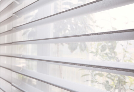 Luxdezine Window Blinds 3D Shade White Dining Room Zoom Privacy