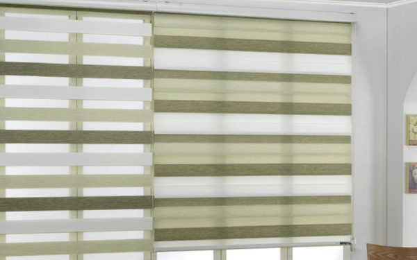 Luxdezine Window Blinds Combi Shades 3 Color Woodlock