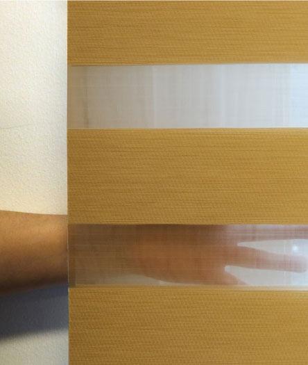 Luxdezine Window Blinds Combi Shades Bedroom White Privacy Open