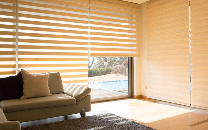 Luxdezine Window Blinds Combi Shades Bedroom White Sunlight