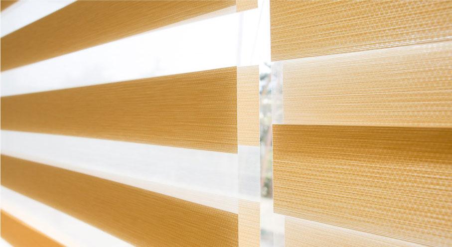 Luxdezine WIndow Blinds Combi Shades Bedroom White Zoom Side