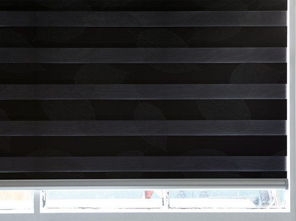 Luxdezine Window Blinds Combi Bedroom Dark Closed