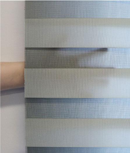 Luxdezine Window Blinds Combi Shades Interior Orange Hand Close