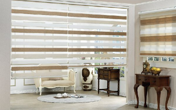 Luxdezine Window Blinds Combi Shades Line Sherbet