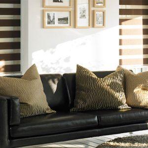 Luxdezine Window Blinds Combi Shades Living Room Far Sofa Pillow