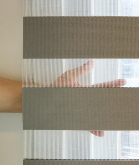 Luxdezine Window Blinds Combi Shades Modern Bedroom Open
