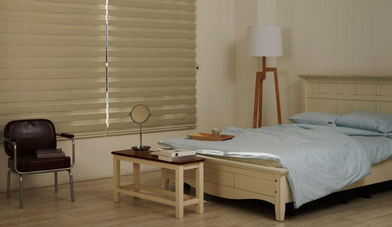 Luxdezine WIndow Blinds Combi Shades Modern Bedroom